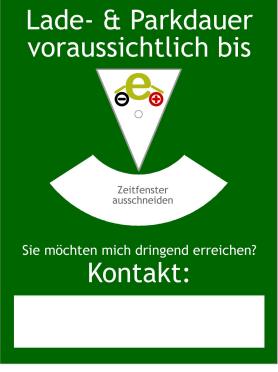 Ladescheibe: Parkscheibe mal anders