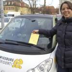 In Ludwigsburg wird ein gelber Sonderparkausweis verwendet (Quelle: Stadt Ludwigsburg)
