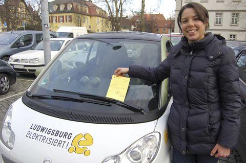 Mit dem Elektroauto kostenfrei in Ludwigsburg parken