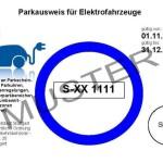Sonderparkausweis der Stadt Stuttgart für Elektroautos (Quelle: stuttgart.de)